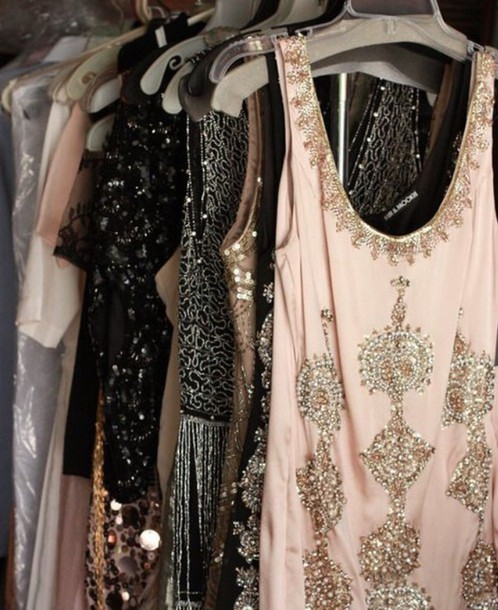 dress mini sparkly dres great gatsby dress sparkels sparkly dress beaded beaded dress beaded short dresses beaded party dresses mini dress pink dress 50s style vintage dress new year's eve new year's eve party 2015 2016