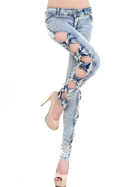 Side Bow Knot Jeans   Outfit Made