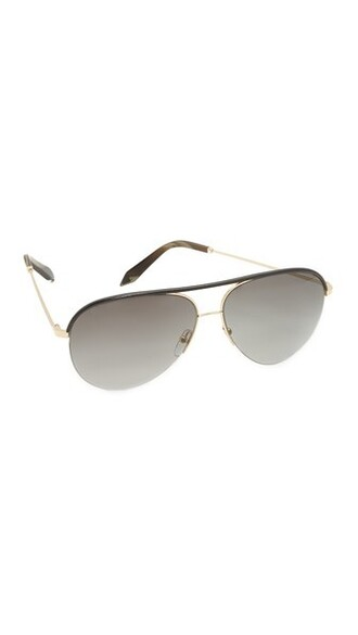 classic sunglasses gold leather black grey