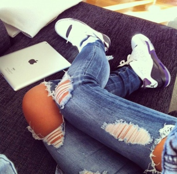 8947485e7632 ... jeans ripped ripped jeans belt pants shoes nike nikes jordan jordans  air jordan sporty dress ripped ...