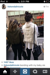 coat,white,kendall and kylie jenner