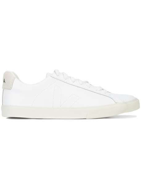 Veja - lace-up sneakers - women - Leather/Canvas/rubber - 40, White, Leather/Canvas/rubber