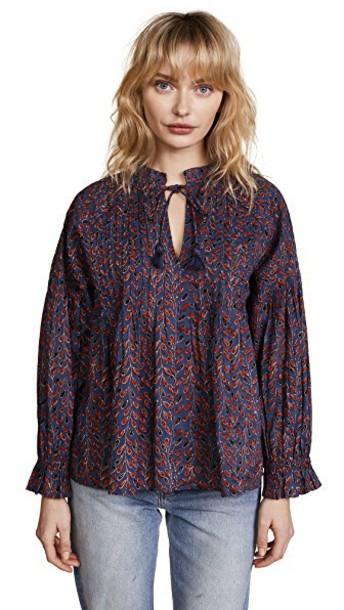 Velvet blouse top