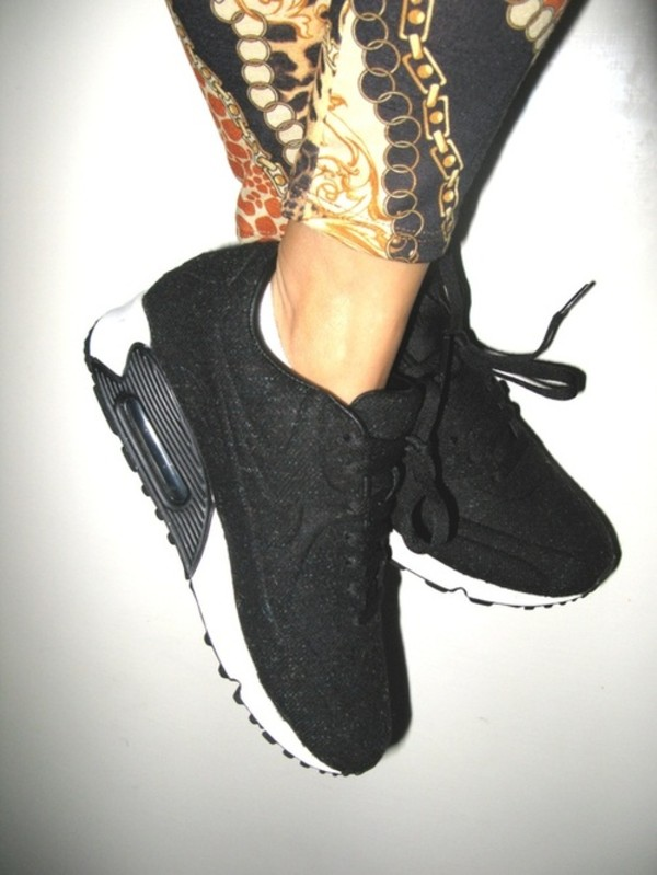 shoes nike air max black white sneakers