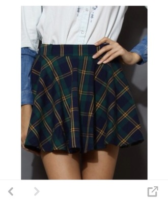 skirt plaid skirt