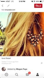 jewels,long,copper,cooper jewelry,jewelry,brown,tear drop,drop,dangles