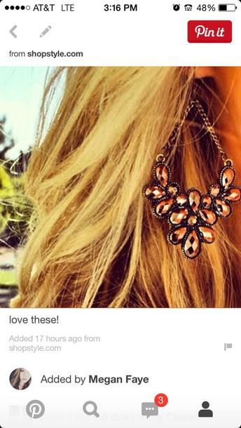 jewels long copper cooper jewelry jewelry brown tear drop drop dangles