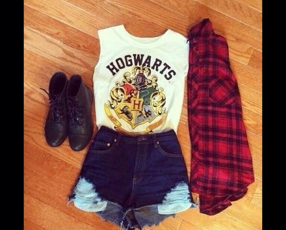 harry potter hogwarts blouse shoes
