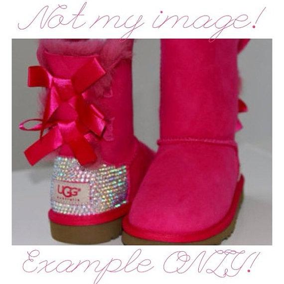 Custom rhinestone heel uggs