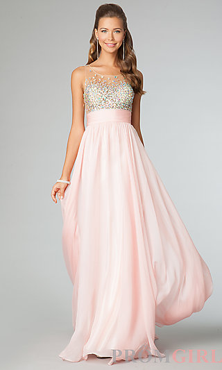 Sleeveless Beaded Prom Dress, Jovani JVN Beaded Gowns-PromGirl