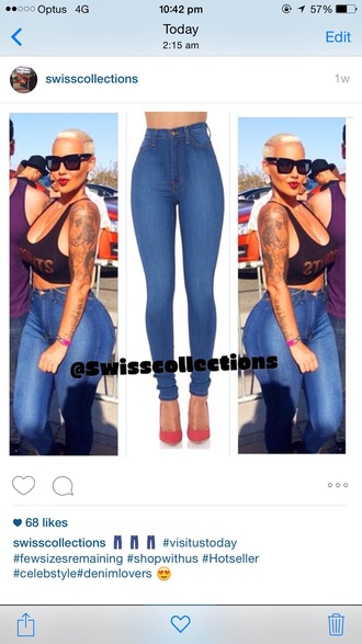 jeans amber rose high waisted jeans