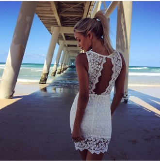 white white dress lace dress floral dress flowers white lace dress