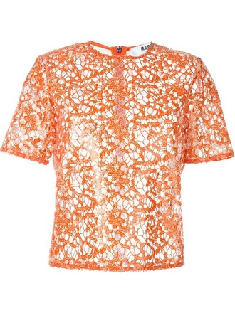 top lace yellow orange