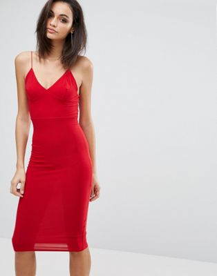 Club L Midi Dress with Cami Strap at asos.com