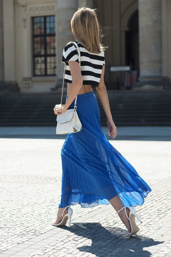 Long blue skirt maxi – Modern skirts blog for you