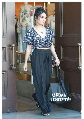 blouse top pants vanessa hudgens crop tops