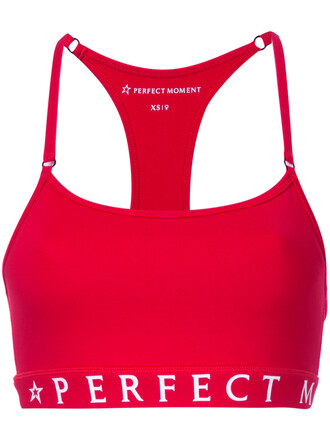 top women spandex red