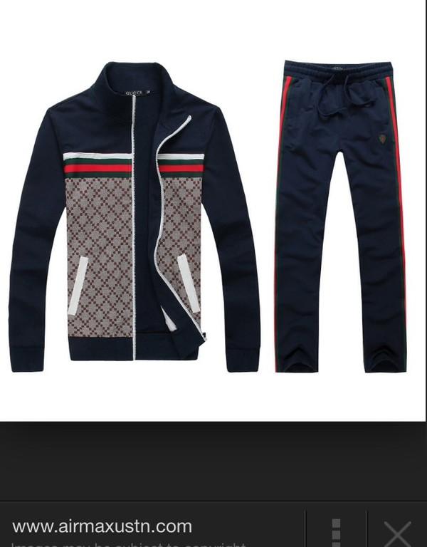 Gheap Gucci Mens Tracksuit Blue Clearance Sale