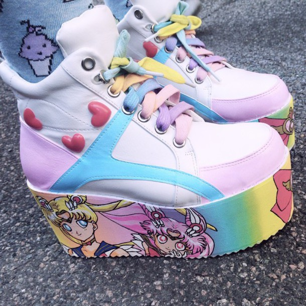 Shoes: pastel, sailor moon, anime, kawaii, kawaii grunge ...