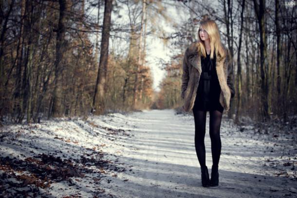 black dress chiffon dress