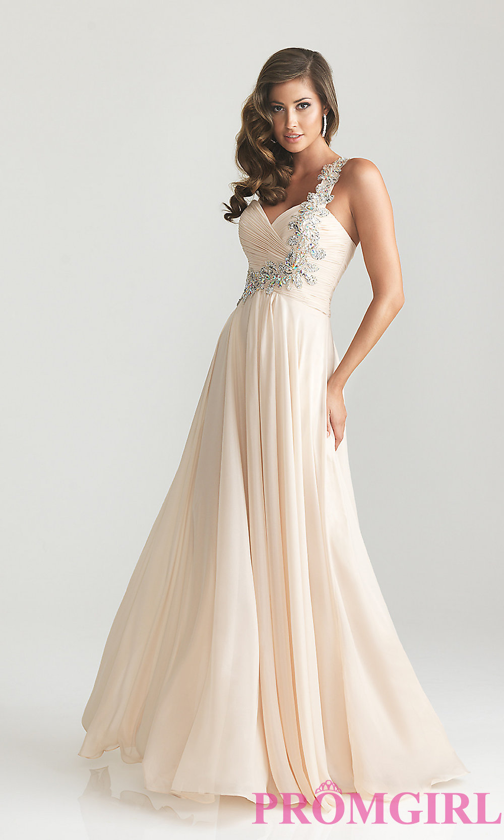 Night moves one shoulder prom dress 6679