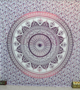 home accessory bohemian wall hanging bedcover hippie tapestry dorm tapestry mandala ombre floral pink home decor living room blanket beach beach throw psychedelic tapestry yoga mat meditation mat meditation wall hanging