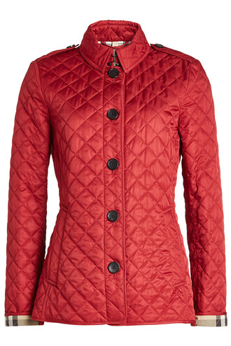 jacket quilted red