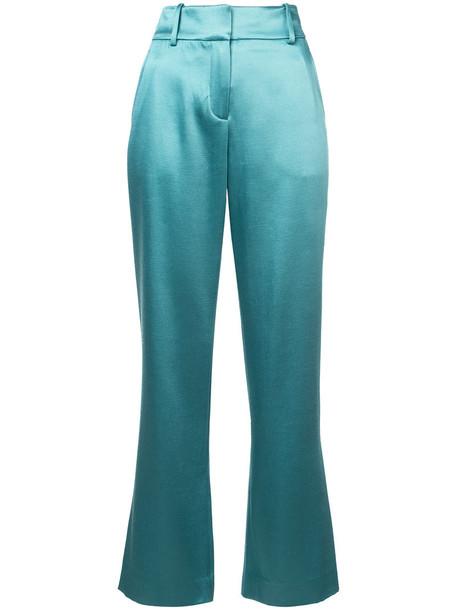 women wool green pants