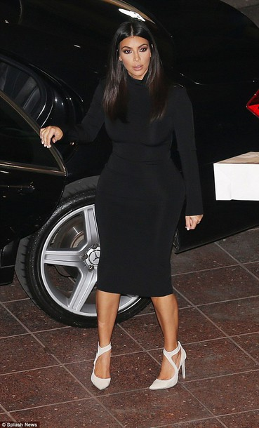 turtleneck black dress midi dress little black dress kim kardashian little black dress dress
