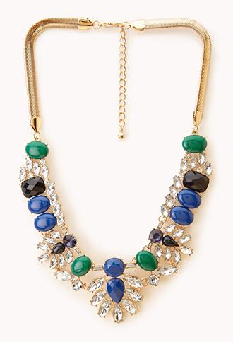 Gemstone Bib Necklace | FOREVER21 - 1000051659