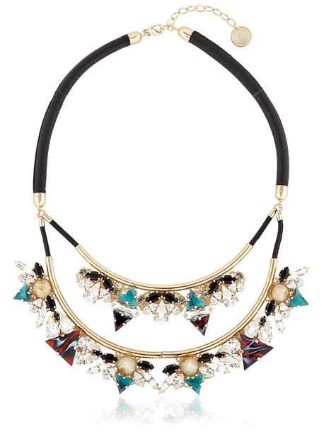 ANTON HEUNIS necklace green brown jewels