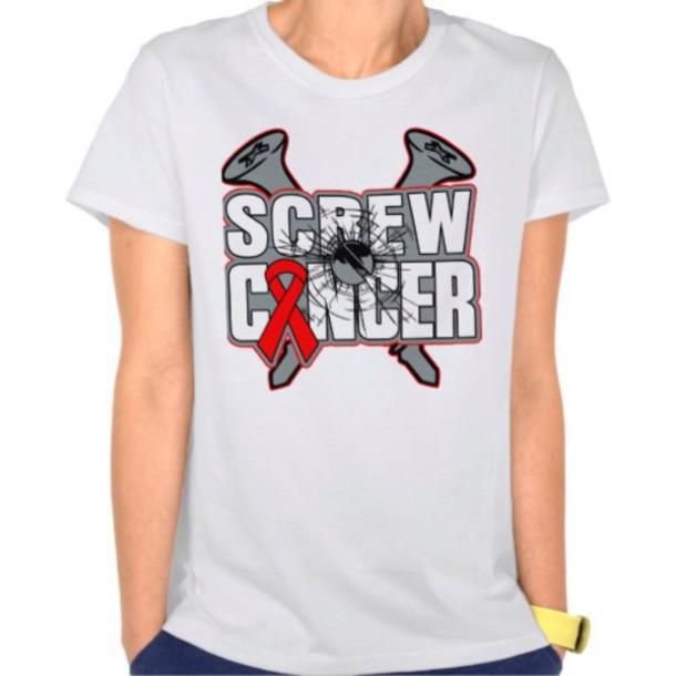 shirt t-shirt cancer shirts blouse white shirt style