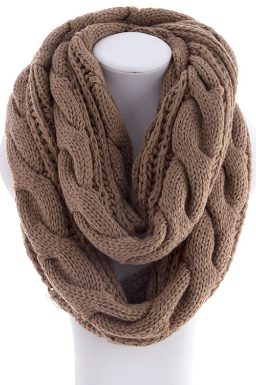 Cable knit infinity scarf – betsy boo's boutique