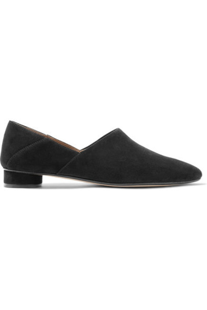 The Row - Noelle Suede Loafers - Black