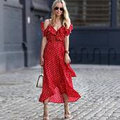 dress,midi dress,red dress,slip dress,sandals,sandal heels,bag,white,handbag,nude shoes,shoes