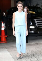 shoes,pants,top,ashley greene,pumps,spring outfits
