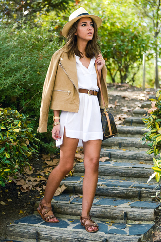lovely pepa blogger bag jacket belt jewels perfecto summer outfits shirt dress blouse