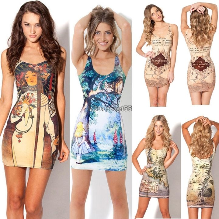 Frauen Sexy Mode Raum Galaxie Oben Der Hobbit Middle Earth Map Mini Short Dress | eBay