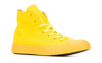 shoes yellow yellow shoes neon high top sneakers converse