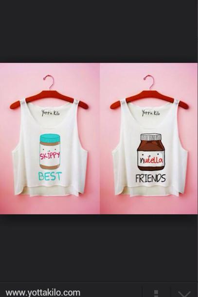 shirt nutella skippies best friend shirts