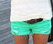 shorts,green,short,mini