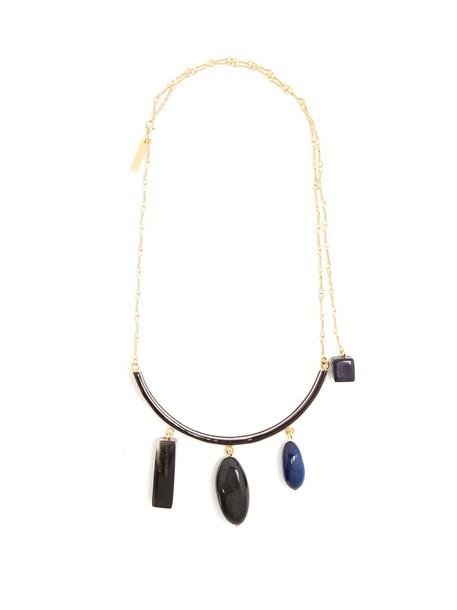 MARNI necklace pendant blue jewels