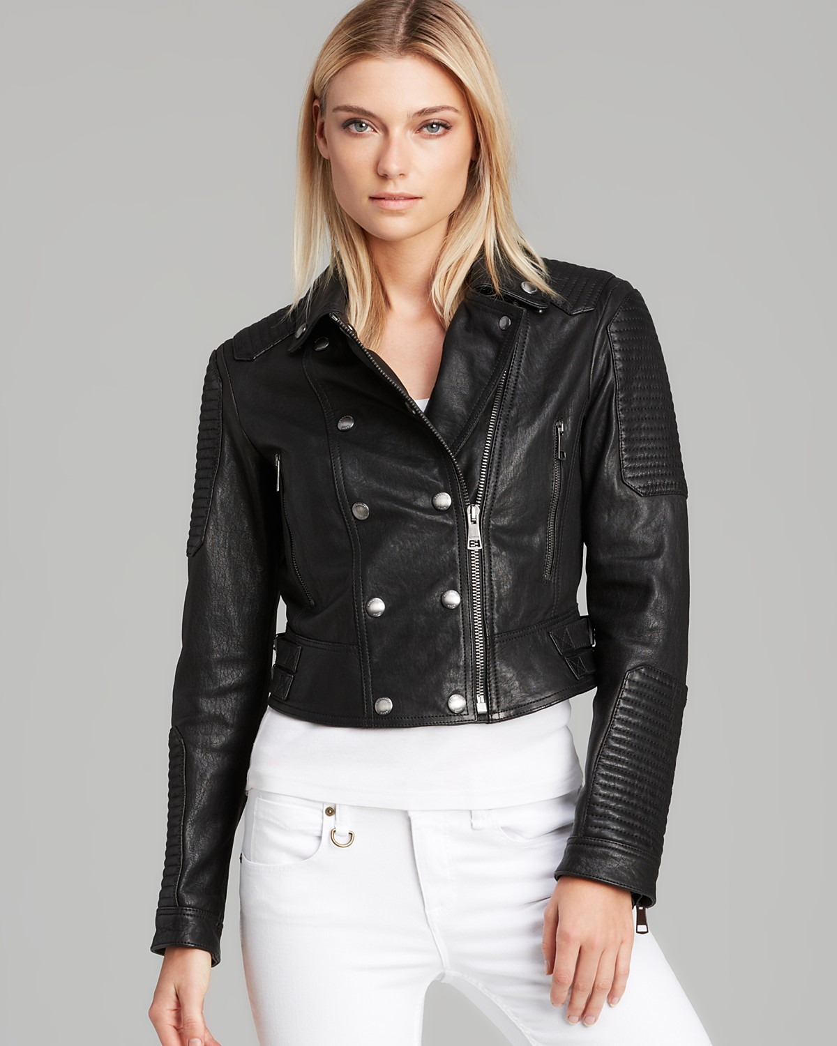 Burberry Brit Bisham Leather Jacket | Bloomingdale's