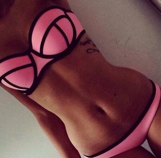 swimwear pink summer outfits swimwear two piece beautiful tanned girl pinkish tannish great