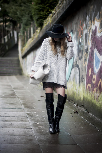 just another me sweater shoes skirt bag hat jewels
