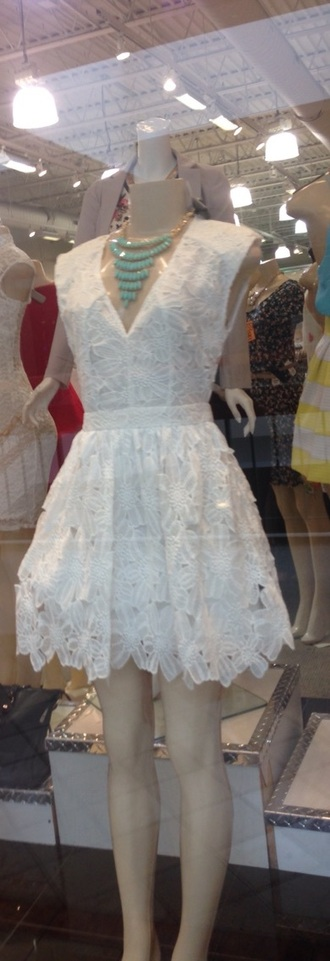 dress white dress skater skirt skater dress lace dress