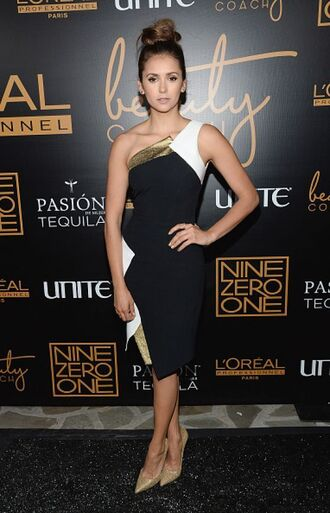 one shoulder nina dobrev dress shoes