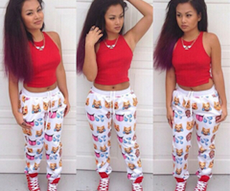 pants emoji print