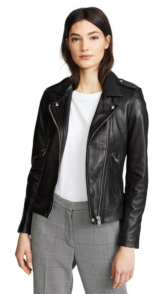 IRO Han Leather Jacket in black