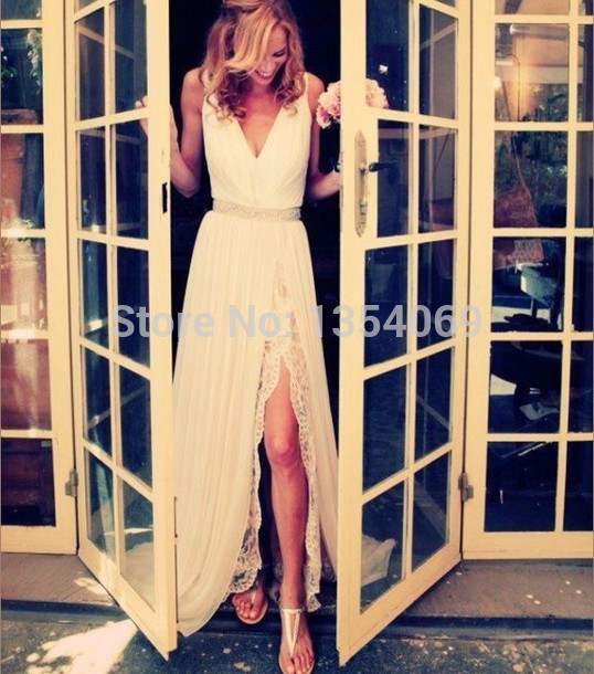 Aliexpress.com : buy elegant long a line v neckline tank sleeveless draped ivory lace/chiffon evening dress prom party dress custom made dyp192 from reliable dresses wear wedding guest suppliers on roman holiday wedding dresses